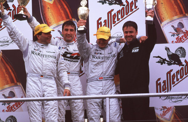 German Touring CarsNurburgring, Germany18th-20th August 2000Bernd Schneider,Klaus Ludwig and Marcel Fassler win the dtm race at Nurburgring-LAT world copyright