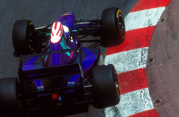 1994 Monaco Grand Prix.Monte Carlo, Monaco.12-15 May 1994.David Brabham (Simtek S941 Ford). He exited the race after being hit by Alesi.Ref-94 MON 03.World Copyright - LAT Photographic