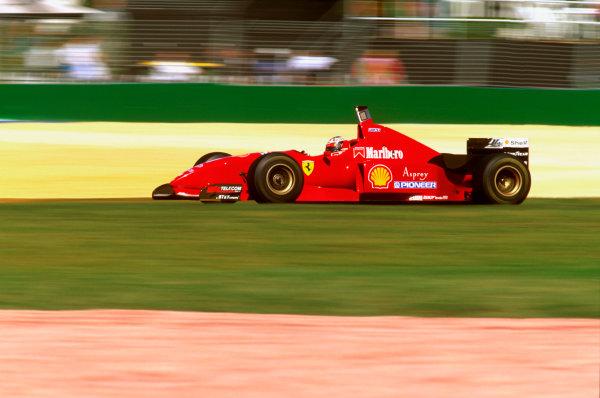 Albert Park, Melbourne, Australia.8-10 March 1996.Michael Schumacher (Ferrari F310) failed to finish due to a brake problem.Ref-96 AUS 27.World Copyright - LAT Photographic