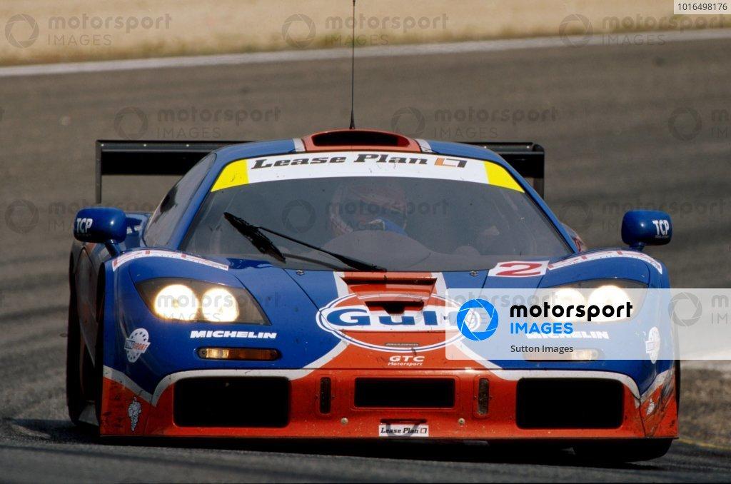 Ray Bellm (GBR) GTC Competition McLaren F1 GTR won the race. BPR Global Endurance GT Series, Jarama, Spain, 14 April 1996. BEST IMAGE