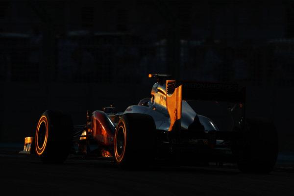 Lewis Hamilton (GBR) McLaren MP4/26.  Formula One World Championship, Rd 18, Abu Dhabi Grand Prix, Race, Yas Marina Circuit, Abu Dhabi, UAE, Sunday 13 November 2011.  BEST IMAGE