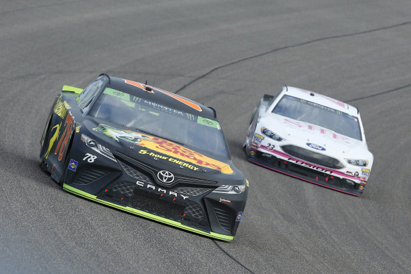 #78: Martin Truex Jr., Furniture Row Racing, Toyota Camry Bass Pro Shops/5-hour ENERGY and #23: J.J. Yeley, BK Racing, Toyota Camry She Beverage Company