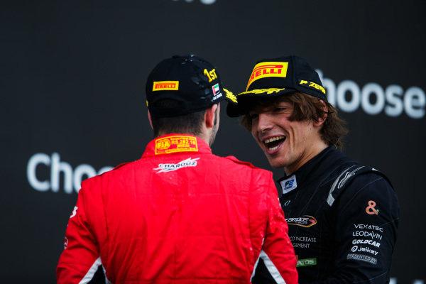 Antonio Fuoco (ITA, Charouz Racing System), Roberto Merhi (ESP, Campos Vexatec Racing).