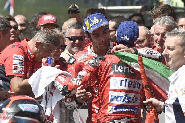 Race winner Danilo Petrucci, Ducati Team, third place Andrea Dovizioso, Ducati Team.