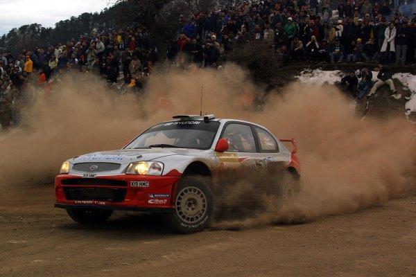 2003 FIA World Rally Championship. Kemer, Turkey. Rd3.26/2-2/3 2003.Freddy Loix/Sven Smeets (Hyundai Accent WRC3) 10th position. World Copyright: McKlein/LAT Photographic