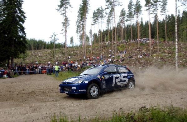 2002 World Rally Championship.Neste Rally Finland, Jyvaskyla Finland, August 8-11th.Markko Martin during shakedownPhoto: Ralph Hardwick/LAT