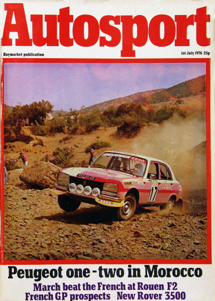Cover of Autosport magazine, 1st July 1976