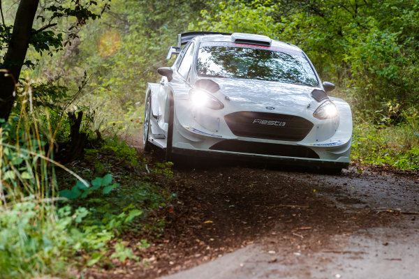 Valtteri Bottas tests an M-Sport Ford Fiesta WRC