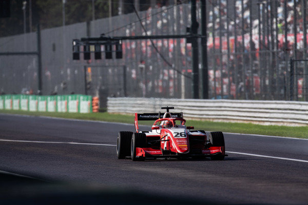 AUTODROMO NAZIONALE MONZA, ITALY - SEPTEMBER 08: Marcus Armstrong (NZL, PREMA Racing) during the Monza at Autodromo Nazionale Monza on September 08, 2019 in Autodromo Nazionale Monza, Italy. (Photo by Joe Portlock / LAT Images / FIA F3 Championship)