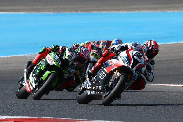 Tom Sykes, BMW Motorrad WorldSBK Team, Leon Haslam, Kawasaki Racing Team.