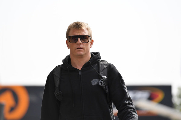 Kimi Raikkonen, Alfa Romeo Racing in the paddock