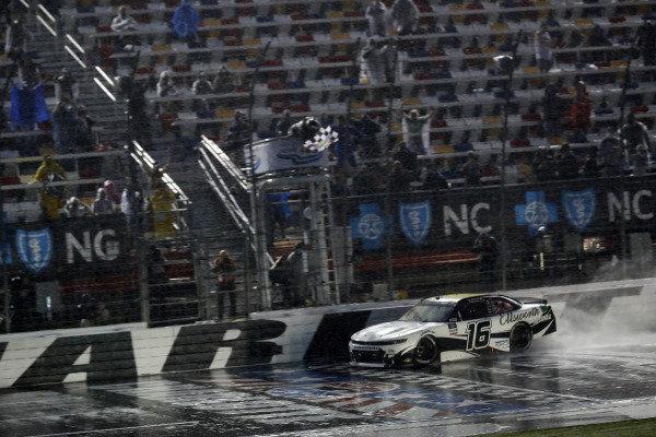#16: A.J. Allmendinger, Kaulig Racing, Chevrolet Camaro Ellsworth Advisors celebrates his win