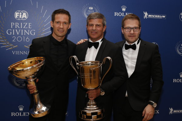 2016 FIA Prize Giving Vienna, Austria Friday 2nd December 2016 Sebastien Ogier. Photo: Copyright Free FOR EDITORIAL USE ONLY. Mandatory Credit: FIA ref: 30560145434_fdfb323376_o
