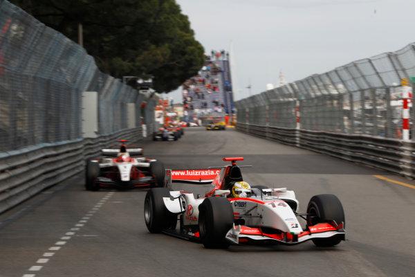 Monte Carlo, Monaco. 15th May 2010. Saturday Race.Luiz Razia (BRA, Rapax). Action. Photo: Andrew Ferraro/GP2 Media Service.Ref: _Q0C7517 jpg