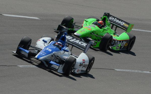 22-23 June, 2012, Newton, Iowa USA#15 Takuma Sato Rahal Letterman Lanigan Racing Honda with #27 james Hinchcliffe(c)2012, Dan R. Boyd LAT Photo USA