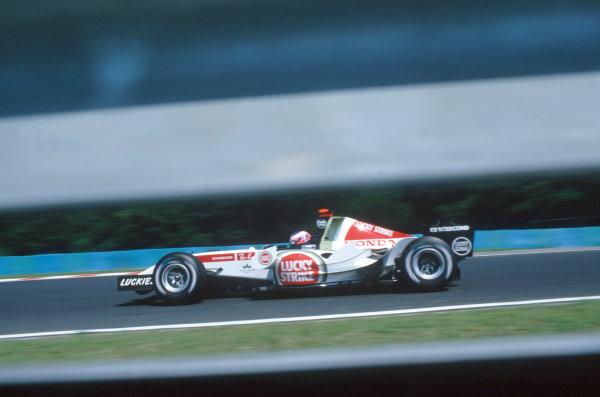 2005 Hungarian Grand Prix. Hungaroring, Hungary. 29th - 31st July 2005 Takuma Sato, BAR Honda 007. World Copyright: Steven Tee/LAT Photographic Ref: 35mm Image A16