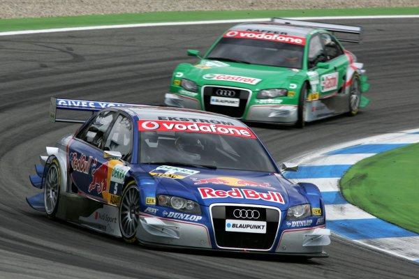 2006 DTM Championship.Round 1, Hockenheimring. 7th - 9th April 2006.Mattias Ekström (SWE), Audi Sport Team Abt Sportsline, Audi A4 DTM, leads Pierre Kaffer (GER), Audi Sport Team Phoenix, Audi A4 DTMWorld Copyright: Miltenburg/xpb cc/LATref: Digital Image Only