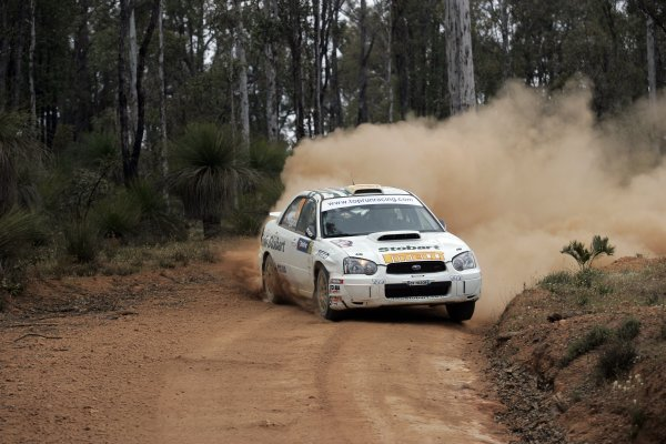 2005 FIA World Rally Champs. Round Sixteen, Rally Australia.10th - 13th November 2004.Mark Higgins, Subaru, action.World Copyright: McKlein/LAT