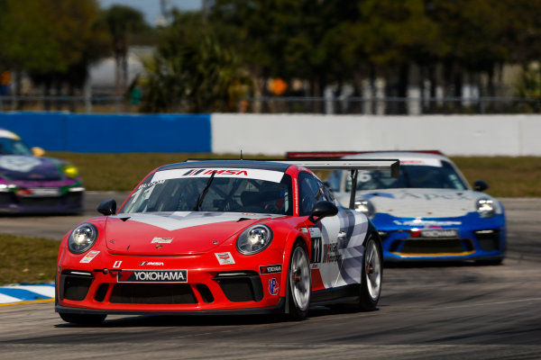 2017 Porsche GT3 Cup USA Sebring International Raceway, Sebring, FL USA Friday 17 March 2017 11, Phil Bloom, GT3P, USA, 2017 Porsche 991 World Copyright: Jake Galstad/LAT Images ref: Digital Image lat-galstad-SIR-0317-14858
