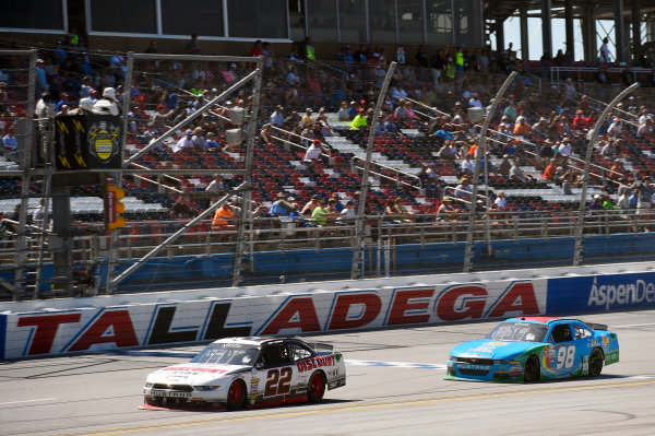 NASCAR Xfinity Series Sparks Energy 300 Talladega Superspeedway, Talladega, AL USA Saturday 6 May 2017 Joey Logano, Discount Tire Ford Mustang and Aric Almirola, Fresh From Florida Ford Mustang World Copyright: Nigel Kinrade LAT Images ref: Digital Image 17TAL1nk04613