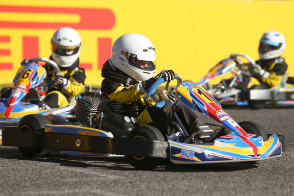Circuit de Catalunya, Barcelona, Spain. Thursday 11 May 2017. RACC junior Kart racers in action. World Copyright: Dom Romney/LAT Images ref: Digital Image GT2R9819