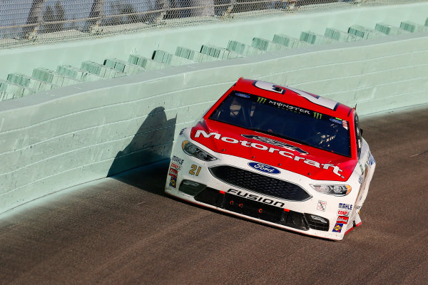 Monster Energy NASCAR Cup Series Ford EcoBoost 400 Homestead-Miami Speedway, Homestead, FL USA Sunday 19 November 2017 Ryan Blaney, Wood Brothers Racing, Motorcraft/Quick Lane Tire & Auto Center Ford Fusion World Copyright: Russell LaBounty LAT Images