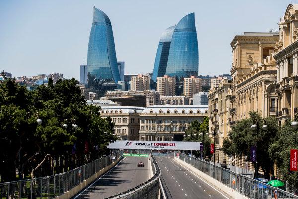 2017 FIA Formula 2 Round 4. Baku City Circuit, Baku, Azerbaijan. Friday 23 June 2017. Nyck De Vries (NED, Rapax)  Photo: Zak Mauger/FIA Formula 2. ref: Digital Image _56I6705