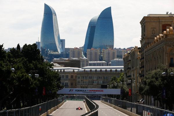 Baku City Circuit, Baku, Azerbaijan. Friday 23 June 2017. Sebastian Vettel, Ferrari SF70H. World Copyright: Andrew Hone/LAT Images ref: Digital Image _ONY8327