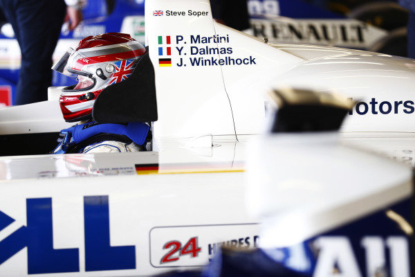 Williams 40 Event Silverstone, Northants, UK Friday 2 June 2017. Steve Soper sits in the cockpit of the 1999 Le Mans-winning BMW. World Copyright: Sam Bloxham/LAT Images ref: Digital Image _J6I6555