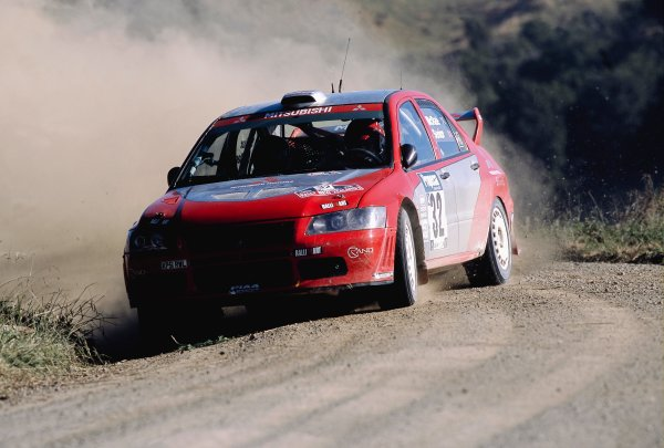 2003 World Rally ChampionshipRally New Zealand. 9th - 13th April 2003.Alister McRae/David Senior (Mitsubishi Lancer WRC 02), 6th position.World Copyright: LAT Photographicref: 35mm Image A09