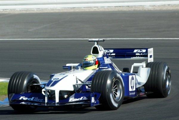 Ralf Schumacher (GER) Williams BMW FW24/German Grand Prix, Hockenheim, Germany, 28 July 2002.DIGITAL IMAGE