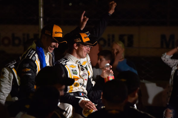 19-21 March, 2015, Sebring, Florida, USA 5, Chevrolet, Corvette DP, P, Joao Barbosa, Christian Fittipaldi, Sebastien Bourdais celebrates the win.  ?2015 Scott R LePage  LAT Photo USA