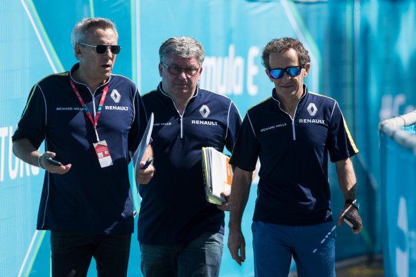 2015 Formula E  Buenos Aires e-Prix, Argentina Friday 5 February 2016. Jean-Paul Driot & Alain Prost - eDAMs Photo: Sam Bloxham/FIA Formula E/LAT ref: Digital Image _SBL9214