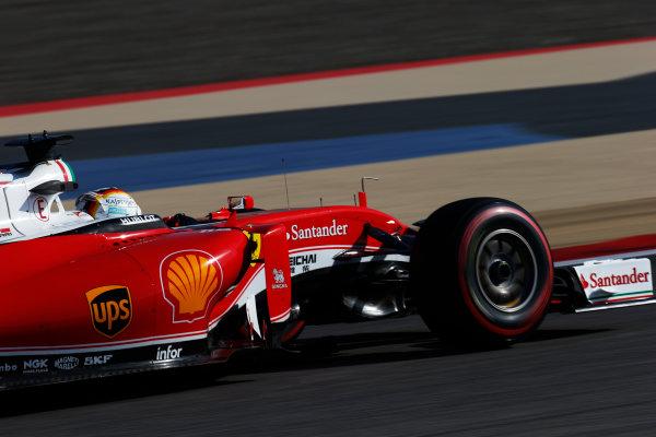 Bahrain International Circuit, Sakhir, Bahrain. Saturday 2 April 2016. Sebastian Vettel, Ferrari SF16-H. World Copyright: Sam Bloxham/LAT Photographic ref: Digital Image _L4R8455