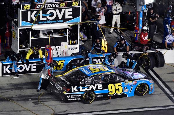 30 June-2 July, 2016, Daytona Beach, Florida USA Michael McDowell, Leavine Family Racing pit stop ?2016, Nigel Kinrade LAT Photo USA