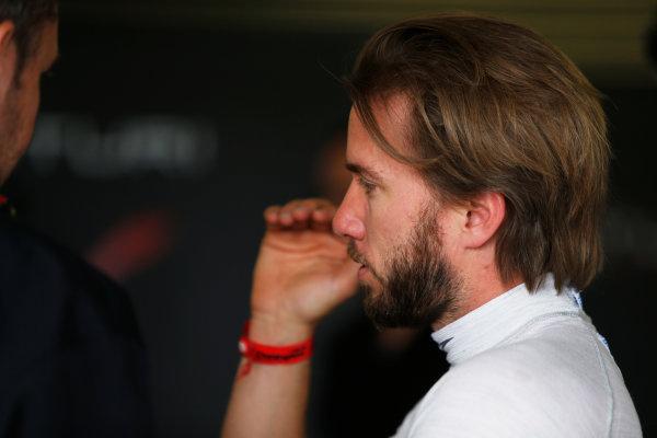 FIA Formula E Test Day, Donington Park, UK.  3rd - 4th July 2014.  Nick Heidfeld, Venturi Grand Prix. Photo: Zak Mauger/FIA Formula E ref: Digital Image _L0U4876