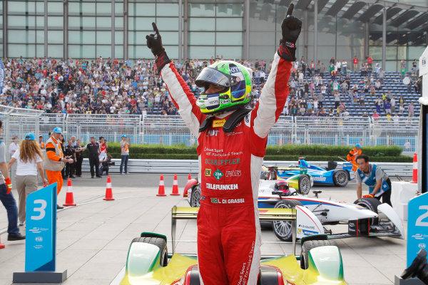 FIA Formula E -  Audi Abt Winner Shots Beijing E-Prix, China Saturday 13 September 2014. Lucas di Grassi (BRA)/Audi Abt Sport - Spark-Renault SRT_01E  Photo: Malcolm Griffiths/LAT/ Formula E ref: Digital Image _A8C9329