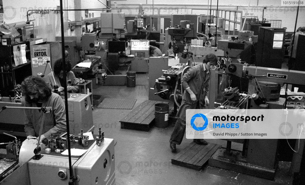 The Hart Engine building factory.Formula One World Championship, c. February 1981.