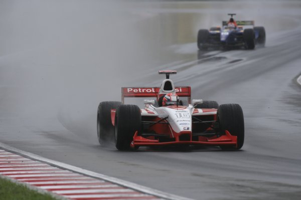 2006 GP2 Series Round 9. Hungaroring, Budapest, Hungary. 6th August 2006. Sunday race.Giorgio Pantano (ITA, FMS International). Action. World Copyright: Charles Coates/GP2 Series Media Service. Ref: Digital Image Only.ZK5Y4353 jpg