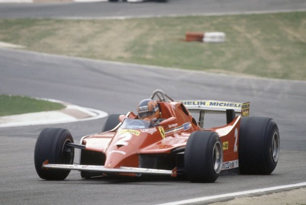 1980 Italian Grand Prix.Imola, Italy. 12-14 September 1980.Gilles Villeneuve (Ferrari 126 turbo) in practice.World Copyright: LAT PhotographicRef: 35mm transparency 80ITA04