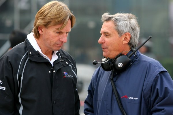 Jean Paul Driot, Seat Holder of A1Team France, David Sears, Team Manager of A1Team New Zealand