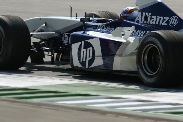 2003 Austrian Grand Prix, Saturday Qualifying,A1 Ring, Austria.17th May 2003.Juan-Pablo Montoya, BMW Williams FW24, action.World Copyright LAt Photographic.Digital Image Only.