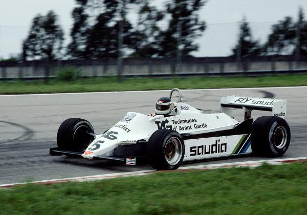 1982 Brazilian Grand Prix.Jacarepagua, Rio de Janeiro, Brazil.19-21 March 1982.Carlos Reutermann (Williams FW07C Ford).Ref-82 BRA 37.World Copyright - LAT Photographic