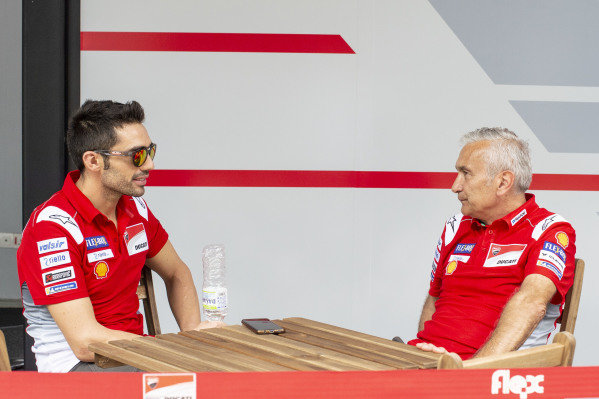 Michele Pirro, Ducati team, Davide Tardozzi, Team manager Ducati Team.