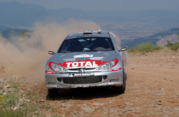 World Rally Championship, Acropolis Rally, June 13-16, 2002.Harri Rovanpera on stage 5.Photo: Ralph Hardwick/LAT