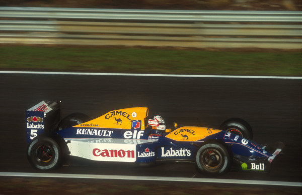 1992 Portuguese Grand Prix.Estoril, Portugal.25-27 September 1992.Nigel Mansell (Williams FW14B Renault) 1st position.Ref-92 POR 01.World Copyright - LAT Photographic