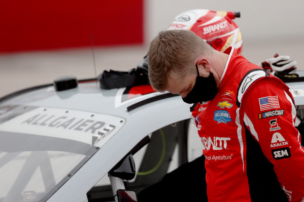 Justin Allgaier, JR Motorsports Chevrolet, Copyright: Chris Graythen/Getty Images.