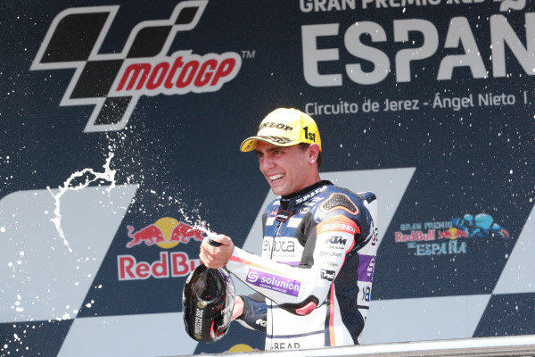 Podium: race winner Albert Arenas, Aspar Team.