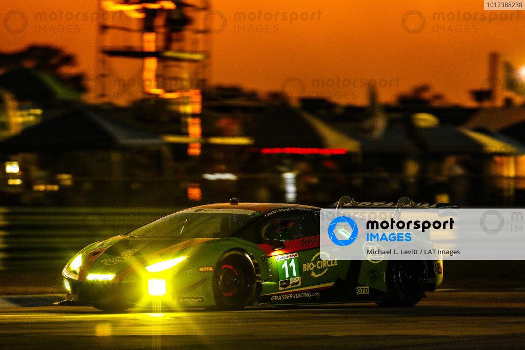 #11 GRT Grasser Racing Team Lamborghini Huracan GT3, GTD: Mirko Bortolotti, Rik Breukers, Rolf Ineichen