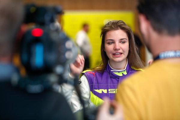 Vivien Keszthelyi (HUN), talks to the press